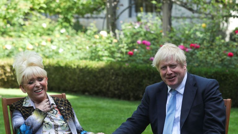 Dame Barbara Windsor meeting Prime Minister Boris Johnson