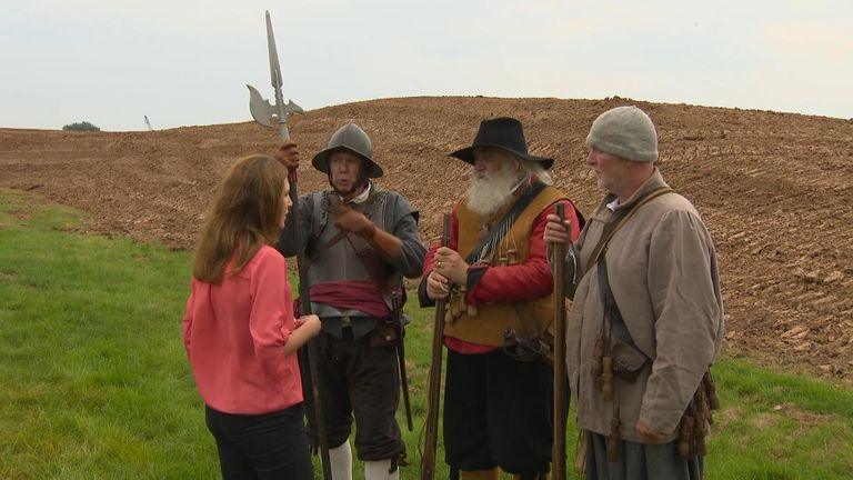 Battle of Worcester re-enactors are overjoyed by the find