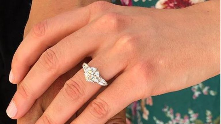 Princess Beatrice's ring, as shared by Eugenie