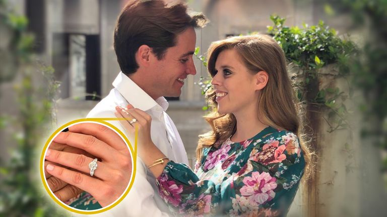 Princess Beatrice is engaged to her partner. Pic: @princesseugenie