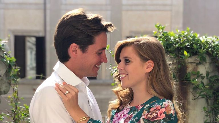 Princess Beatrice announced her engagement with this picture on Instagram