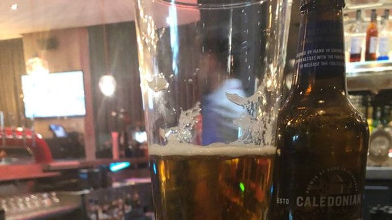 The pint of beer was supposed to cost £5.50. Pic: Peter Lalor