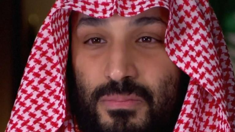 Mohammed bin Salman denies claims he ordered the murder of Jamal Khashoggi. Pic: CBS