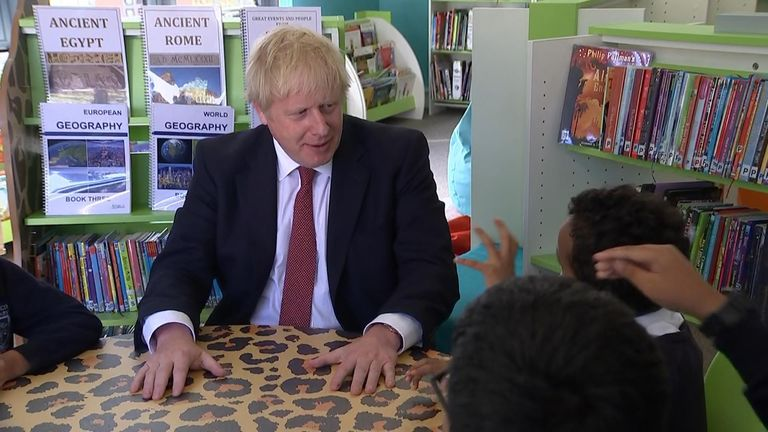 Prime minister Boris Johnson was visiting schoolchildren and told a child the UK had to be prepared to leave the EU without a deal