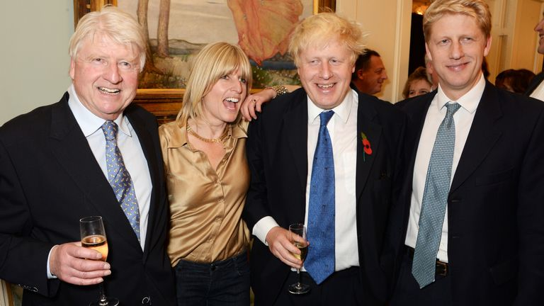 Stanley Johnson, Rachel Johnson, Boris Johnson and Jo Johnson