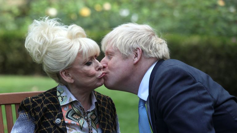 Dame Barbara Windsor meeting Boris Johnson at Downing Street