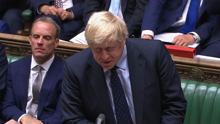 Boris Johnson confirms motion will be tabled to trigger election under Fixed Term Parliaments Act tomorrow if MPs vote to prevent no deal