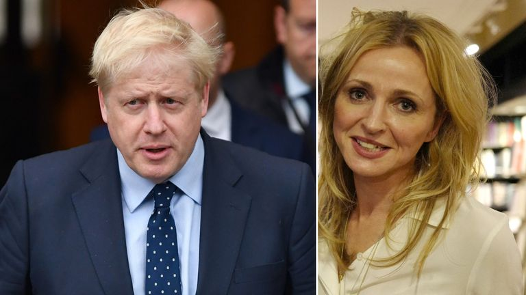 Boris Johnson has denied claims that he squeezed Charlotte Edwardes' thigh