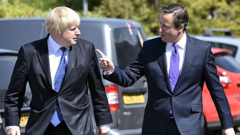 Boris Johnson and David Cameron pictured in 2015