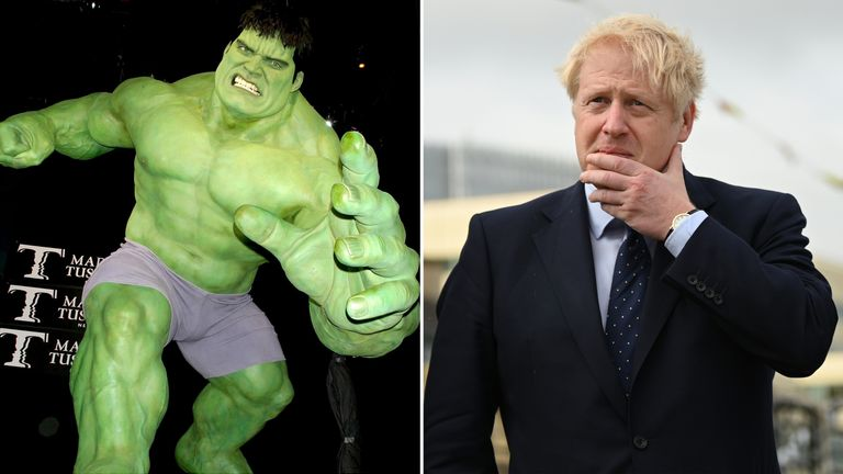Johnson warns EU: The madder Hulk gets, the stronger Hulk gets
