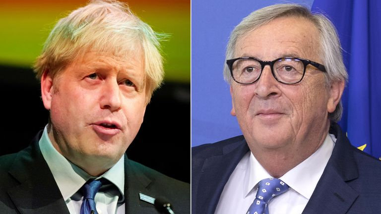 Boris Johnson will warn European Commission president Jean-Claude Juncker that he will reject any offer to delay Britain's exit
