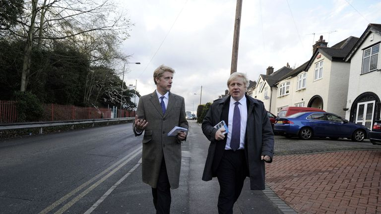 Jo Johnson pictured with his older brother Boris on the campaign trail in 2012