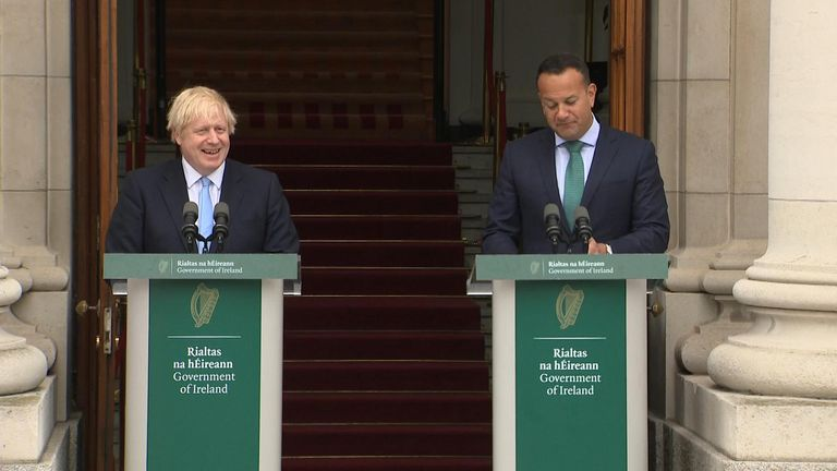 "Prime Minister Boris Johnson has told Irish PM Leo Varadkar not achieving a Brexit deal for the UK would be a ""failure of statecraft""."