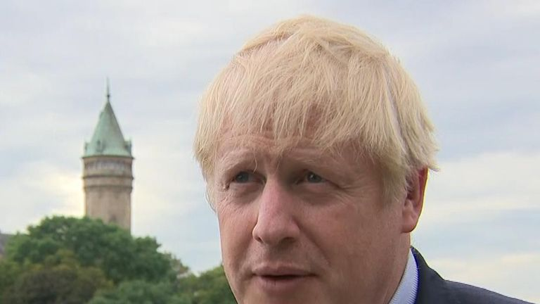 Boris Johnson was absent from the planned joint news conference with the prime minister of Luxembourg
