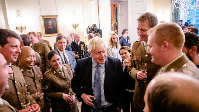 Boris Johnson met with military personnel ahead of talks with military chiefs