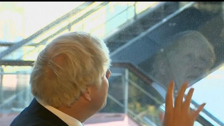 Boris Johnson looks to the sky in New York as UK Supreme Court rules against his prorogation of parliament