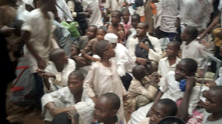 Boys and young men rescued in Nigeria