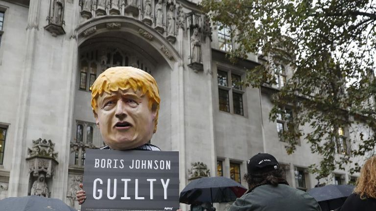 Boris Johnson was found to have acted 'unlawfully' by the Supreme Court