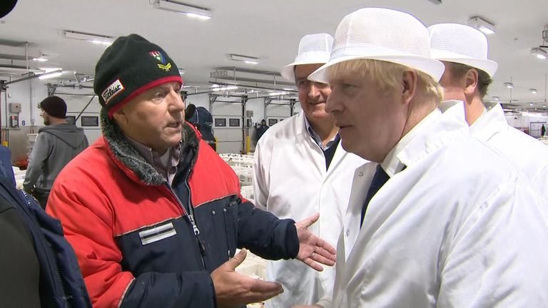 On a visit to meet with fishermen, the prime minister got into a discussion about investment in processing with a local worker
