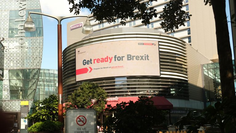 One of the billboards as part of the government's 'Get Ready for Brexit' campaign