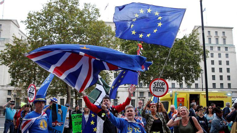 Brexit protest still