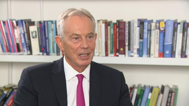Tony Blair was pushed on Labour support in  a general election, saying he had 'big worries', but his overriding desire was to 'stop Brexit'