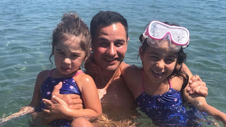 Andy Chapman is on holiday in Cyprus with his wife and two daughters