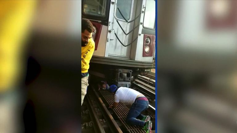 Ferni Balbuena crawled to rescuers from under the train