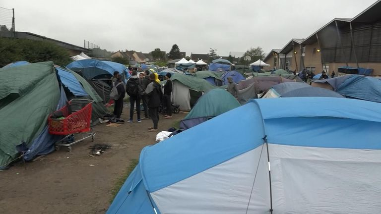 Camps can be found scattered around Calais