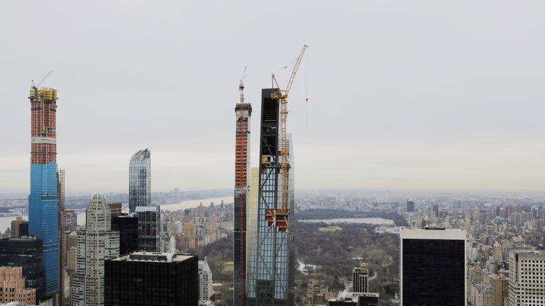 Central Park Tower (l) will be joined by two other tall buildings that are under construction