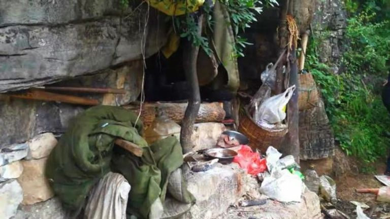 Song Jiang had household rubbish strewn outside his cave