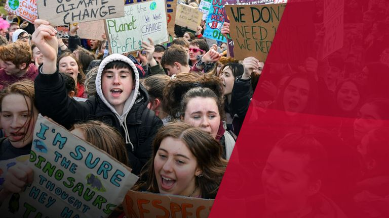 Children all around the world protested against climate change last year