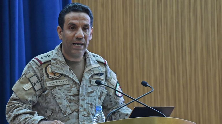 Colonel Turki al-Malki said the weapons were Iranian