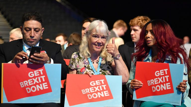 Delegates at the Conservative Party conference in Manchester