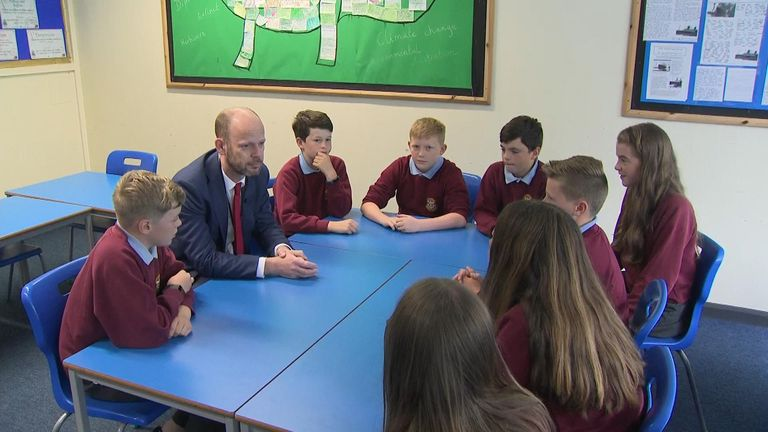 Pupils discuss what can be done about the climate change problem