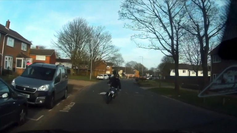 The motorcyclist was critically injured in the crash. Police released the video to show the 'reality' of drinking while riding
