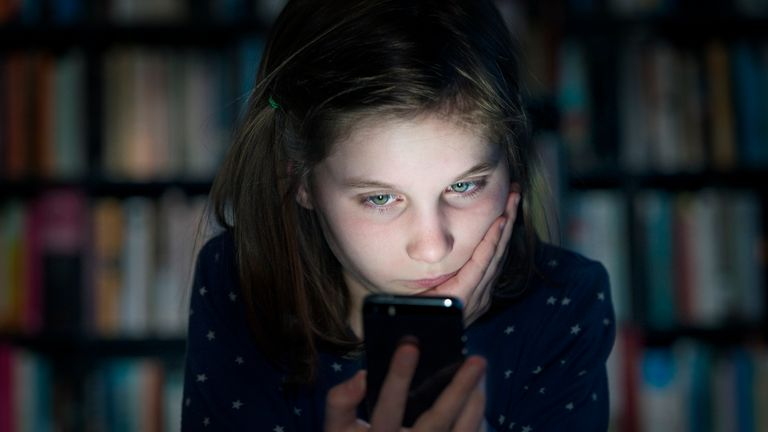 Cyber Bullying Online Bullying Victim stock photo