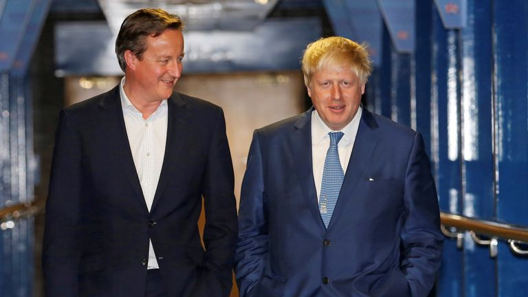 David Cameron and Boris Johnson in 2016