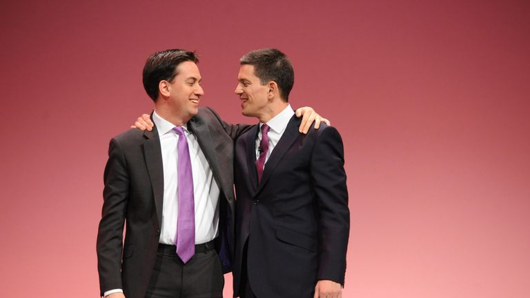 David and Ed Miliband ran against each other in a Labour leadership election