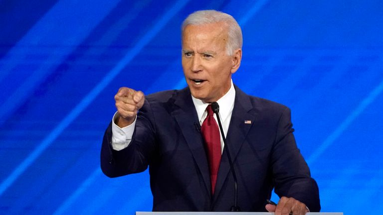 At times Joe Biden appeared flustered