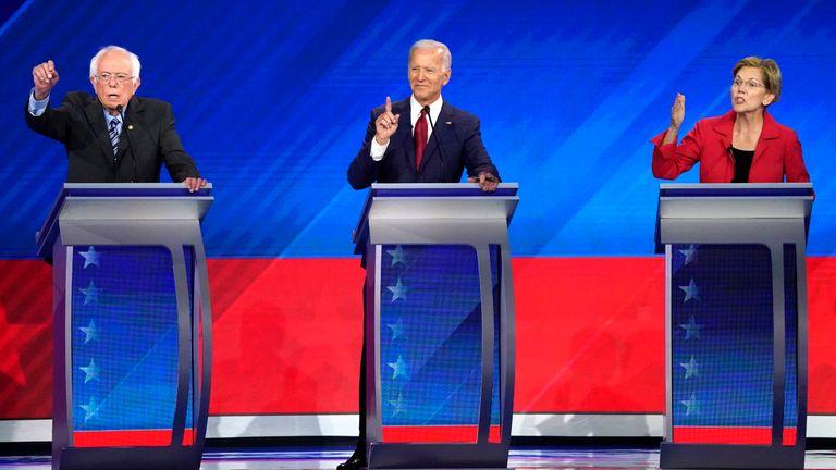 Bernie Sanders, Joe Biden and Elizabeth Warren clashed over healthcare