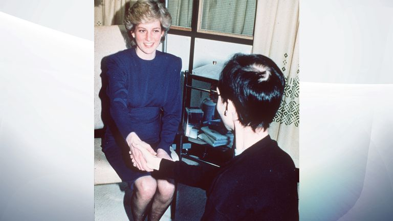 Diana's photo in 1987 helped changed public perception of HIV and Aids