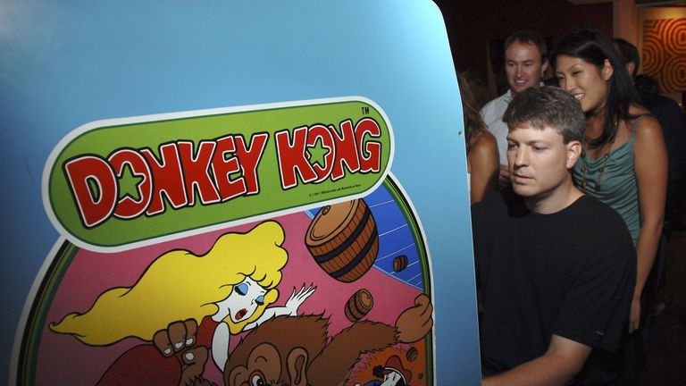 Donkey Kong hit arcades for the first time in 1981