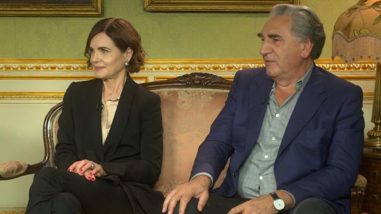 Elizabeth McGovern and Jim Carter, who play Lady Cora Crawley and Carson the Butler