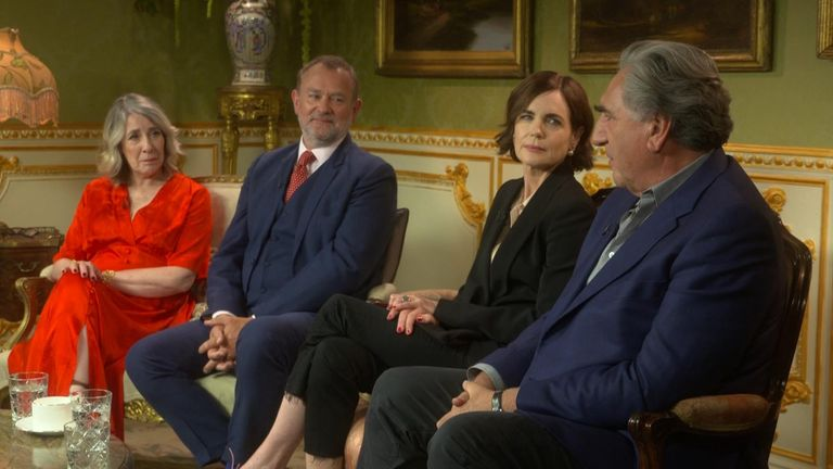 The cast of the new Downton Abbey film