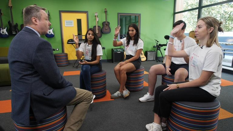 Sky News spoke to four 17-year-olds, who help spread the message to other youngsters about the potential dangers of drug use.