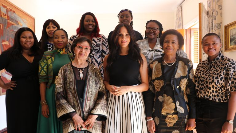 Meghan met with a group of activists as she stayed in Cape Town with Prince Archie while Harry visited other southern African countries