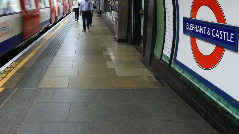 Police believe a fight broke out between two groups of men inside the Tube station. File pic