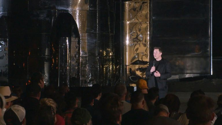 Elon Musk told an audience of space fans about the new Starship spacecraft