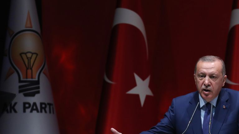 President Erdogan has warned Turkey cannot cope with its migrant situation